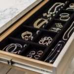 Drawer pulled out revealing jewelry inside