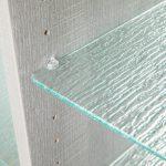 Close up of glass shelves in closet