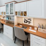 Home office desks with cabinets, chairs and drawers