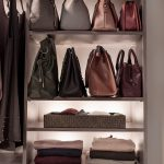 Inspired Closets closet with shelves for hand bags and other belongings