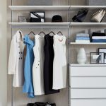 Floating Shelves and Drawers for Modern Walk-In Closet