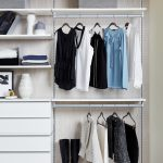 Floating Modern Shelves and Hanging Storage for Walk-In Closet