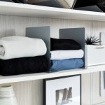 White Floating Shelves for Walk In Closet