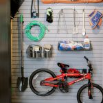 Custom Garage Storage Designed with Slatwall and Hanging Storage in Richmond, VA