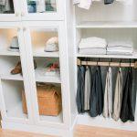 Custom Built Boutique Closet with Pant Storage & Glass Door Wardrobe in Richmond, VA