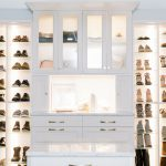 Custom Built Boutique Closet with Exclusive Shoe Shrine Storage in Richmond, VA