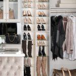 Shoe Shrine custom shoe storage for beautiful boutique closet from Inspired Closets