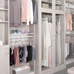 Custom closet hutch storage with hanging rods from Inspired Closets