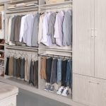 Men's wardrobe storage in boutique closet system from Inspired Closets